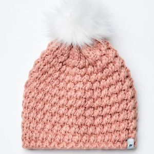 Fabletics Chunky Knit Beanie With Pompom